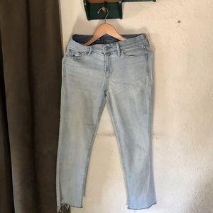 GAP Raw Hem Jeans